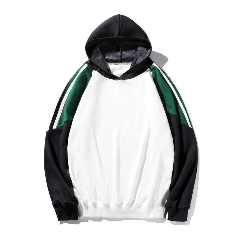 BMY510/350克纯棉不倒绒港风潮流拼色卫衣